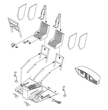 Coffret d'intérieur de Bell UH-1D (pour les maquettes Dragon)