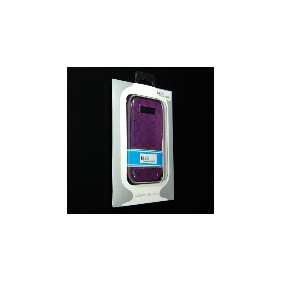 PURPLE Transparent Soft Crystal Silicone case for Nokia E71