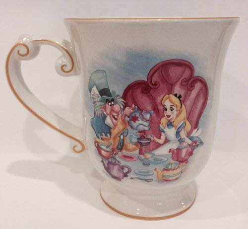 Disney Park Alice in Wonderland and Mad Hatter Ceramic Mug NEW by Disney