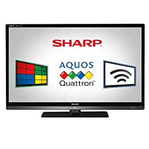 Sharp LC40LE830U Quattron 40-inch 1080p 120 Hz LED-LCD HDTV, Black