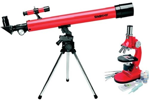 Tasco - Refractor Telescope & Microscope Combo *** Product Description: Tasco - Refractor Telescope & Microscope Combo 50Mm X 50Mm Table Telescope & 900X Microscope Refractor Telescope Is Ideal For Land Or Sky Viewing For The Young Observer 2X Fi ***
