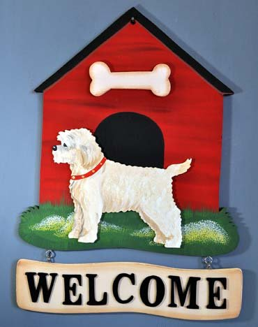 Cockapoo Welcome Sign