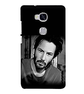 printtech Hollywood Hero Back Case Cover for Hwawei Honor 5X