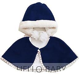 Cute Baby Kid Girls Warm Fall Winter Hat/Caps Cloak Sets In 4 Colors