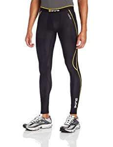 Skins A200 Long Men's Compression Tights - Black/Yellow, M