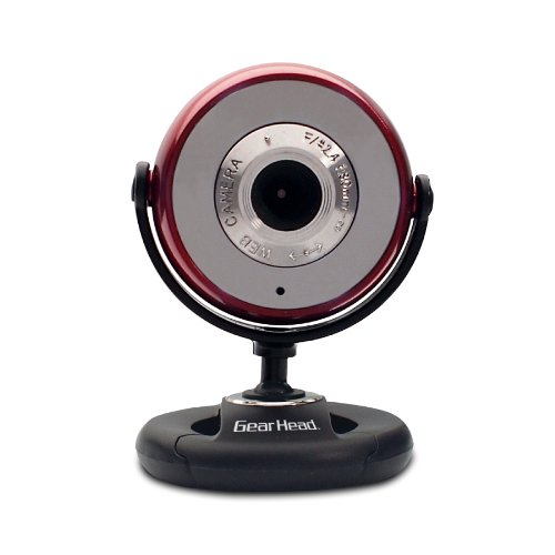 Gear Head Usb 2.0 1.3 Mp Webcam For Pc, Blue With Black Accents (Wc750Red-Cp10)
