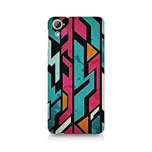 Ebby Random Pink Fusion Premium Printed Case For HTC Desire 820