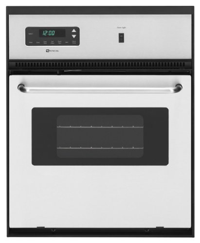"Maytag Cwe4800Acs 24"" Stainless Steel Electric Single Wall Oven"