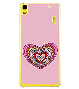 Hearts Pattern 2D Hard Polycarbonate Designer Back Case Cover for Lenovo A7000 :: Lenovo A7000 Plus :: Lenovo K3 Note