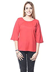 RED Rayon TOP For Women