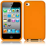 APPLE IPOD TOUCH 4TH GENERATION SOFT SILICONE SKIN CASE - ORANGE PART OF THE QUBITS ACCESSORIES RANGEby Qubits