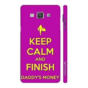 Enthopia Designer Hardshell Case FINISH DADDY'S MONEY Back Cover for Samsung Galaxy E5