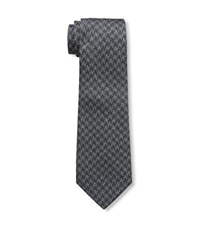 Valentino Men's Houndstooth Tie, Black Grey
