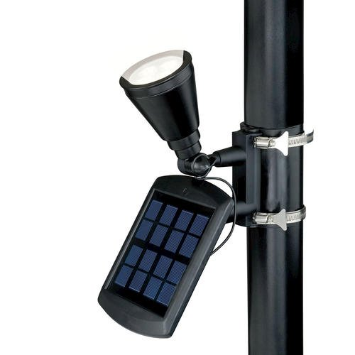 patriot lighting solar powered flagpole flag light super bright 240. Black Bedroom Furniture Sets. Home Design Ideas