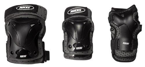 Roces - Protezioni, confezione da 3, Nero, XL