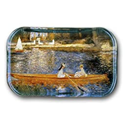 Banks of the Seine at Asnieres - Rectangle Glass Paperweight (2-1/2\