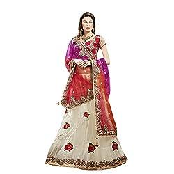 Aagaman Fashions Net, Dupian Lehenga Cholis (TSMH3144_Cream)
