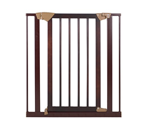Baby Trend Tall Pressure Fit Wood And Metal Gate, Espresso