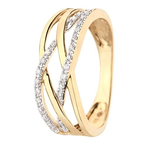 The Diamond - Diamond Gold 30 Diamonds Girl Ring Size 52