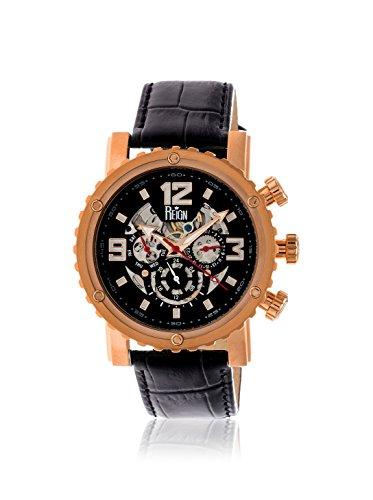Reign Men's REIRN1907 Alpin Rose-Tone/Black Leather Watch