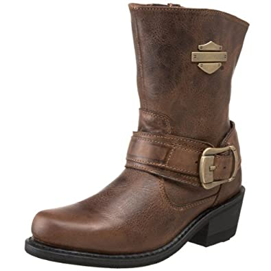 Creative  Comfort And Safety With These Women39s Brown Lace Up Motorcycle Boots