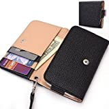Black Wristlet Wallet with Detachable Strap, Coin Zipper Pocket and Credit Card Holder [Metro Series] for Sony Ericsson Xperia neo V おもちゃ (並行輸入)
