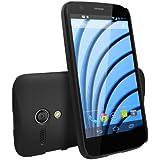 Moto G Case - Ringke SLIM Case [Free HD Film/Better Grip][SF BLACK] Premium Dual Coated Hard Case Cover for Motorola Moto G 1st Gen. 2013 - ECO Package