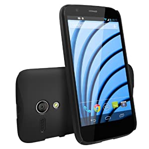 Moto G Case - Ringke Slim Better Grip Premium Hard Case Cover with Free Screen Protector for Motorola Moto G 1st Gen. 2013 - Retail Packaging - Black