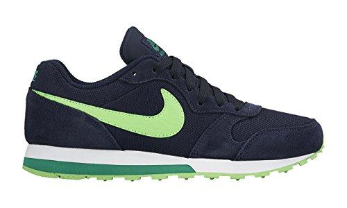 Nike Md Runner 2 (Gs) Scarpe da corsa, Bambini e ragazzi, Multicolore (Obsidian/Voltage Green-Lcd Grn), 38 1/2