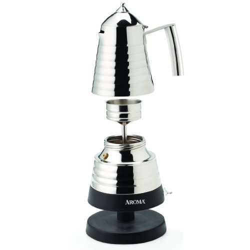 Aroma Housewares AEM-621SS Hot Moka X-Press Electric Moka Maker Home Garden Kitchen Dining ...