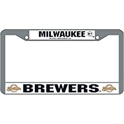 MLB Milwaukee Brewers Ball &amp; Glove Design Laser Chrome Frame