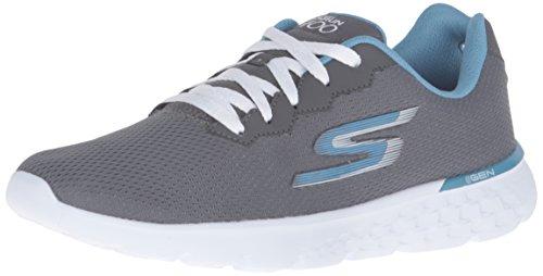Skechers Performance Women's Go Run 400 Action Running Shoe, Charcoal/Blue, 9 M US