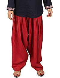 Stylezee Ladies Designer Pure Cotton Solid Plain Patiala Salwar (Maroon)