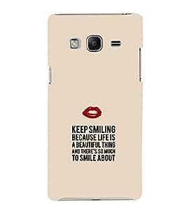 EPICCASE Keep Smiling Mobile Back Case Cover For Samsung Tizen Z3 (Designer Case)