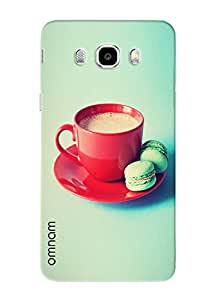 Omnam Red Cup With Green Effect Printed Designer Back Cover Case For Samsung Galaxy J5 (2016)