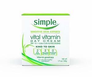 Simple Vital Vitamin Day Cream with SPF 15, 1.7 Ounce