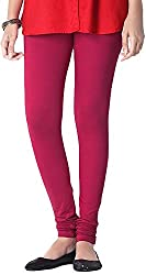 Tulip Collections Women's Cotton Slim Leggings (Tcinli0000076_L, Dark Pink, L)