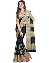 The Fashions Hub Women's Art Silk Saree With Blouse Piece (Multi-Coloured)