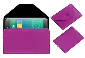 Acm Premium Pouch Case For Phicomm Clue 630 Flip Flap Cover Pink