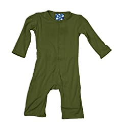 KicKee Pants Unisex Baby Coveralls - Moss - 6-12 Months
