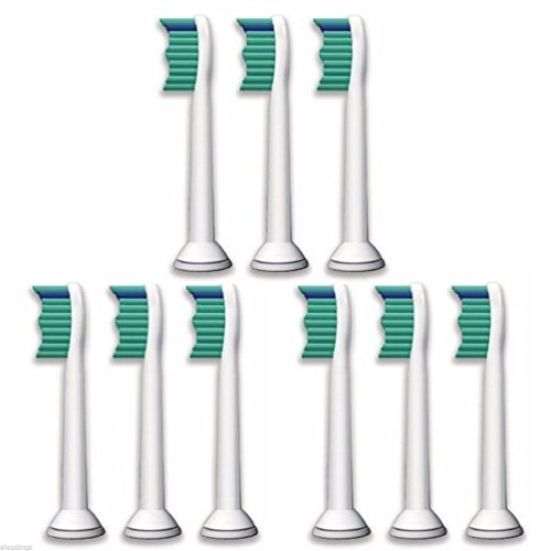 9 Replacement Tooth Brush Heads for Philips Sonicare ProResults HX6730 HX6942 (Fire Truck Toothbrush Holder compare prices)