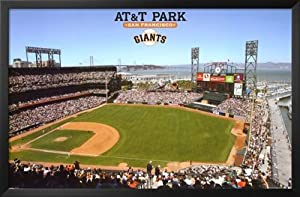 Professionally Framed San Francisco Giants AT&T Park Sports Poster Print - 22x34... by Poster Revolution