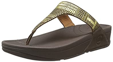 FitFlop Women's Aztec Chada Flip Flop,Chocolate Brown,5 M US