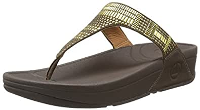 FitFlop Women's Aztec Chada Flip Flop,Chocolate Brown,8 M US
