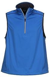 Greg Norman Collection Men\'s 1/4 Zip Weather Knit Vest, Maritime, X-Large