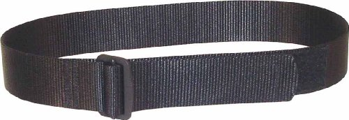 """Fireforce Tactical BDU Belt with Velcro Adjust, 1.75"""" Wide, Made in USA (Black, X-large 38""""-42"""" Waist)"""
