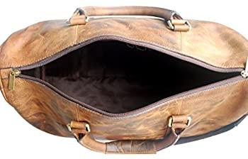 Genuine Leather Travel Duffel Bag For Mens 2