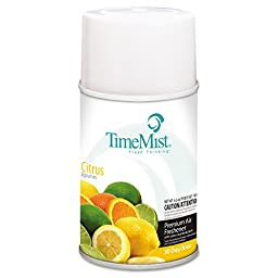 TimeMist TMS 2508 TMS332508TMCACT Metered Fragrance Dispenser Refill, Citrus, 6.6 oz., Aerosol (Pack of 12)