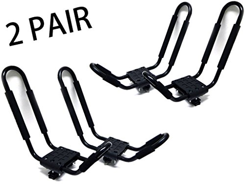 3-AWESOME-CAR-ROOF-TOP-Kayak-Carrier-Canoe-Boat-Surf-Ski-HOLDER-TWO-PAIR-SET