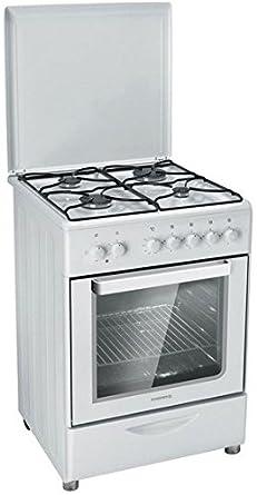 Rosieres RGC 6111 RB - fours et cuisinières (Intégré, Blanc, Petite, Gaz, Convection, acier émaillé)